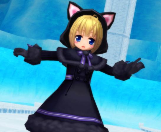 ネコミミフード(黒)