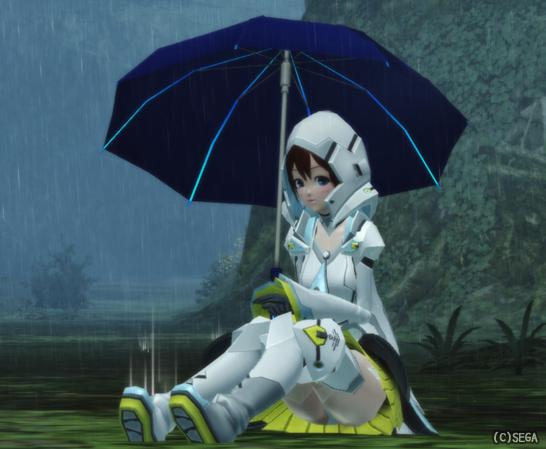 アクエリアコートと雨傘
